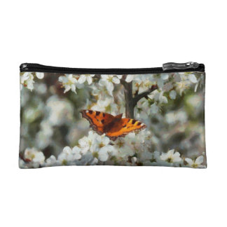 Butterfly on Blossom Cosmetic Bags