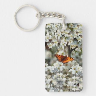 Butterfly on Blossom Key Ring