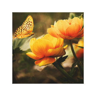 Butterfly on Canvas Canvas Print