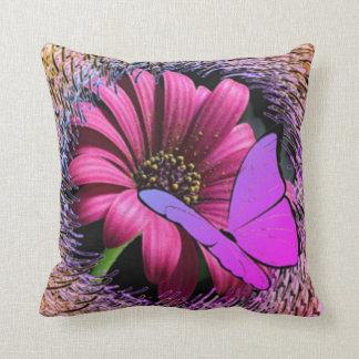 Butterfly on Daisy Cushion