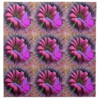 Butterfly on Daisy Napkin