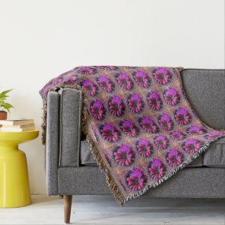 Butterfly on Daisy Throw Blanket