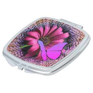 Butterfly on Daisy Vanity Mirror