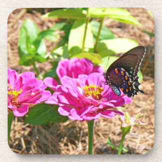 Butterfly on Flower Cork Coaster
