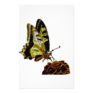 Butterfly on Flower neon Stationery
