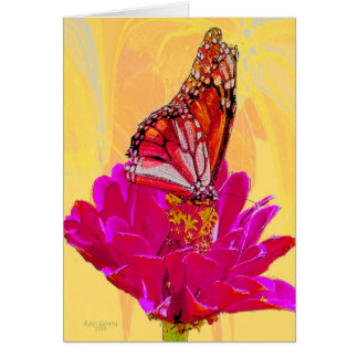 Butterfly on Flower products Card
