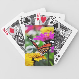 Butterfly on Flowers #2 Bicycle Playing Cards