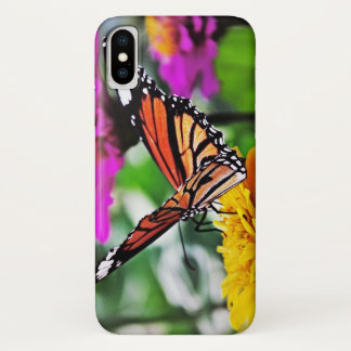 Butterfly on Flowers #2 iPhone X Case
