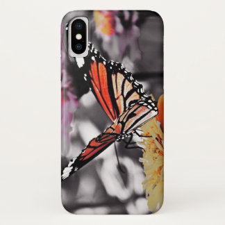 Butterfly on Flowers iPhone X Case