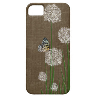butterfly on fluff iPhone 5 cases