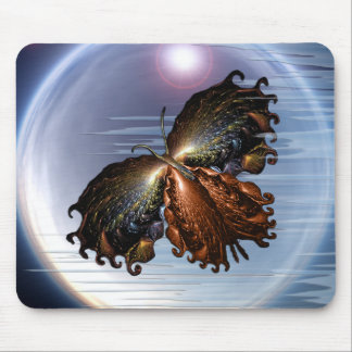 Butterfly on heaven mouse pad