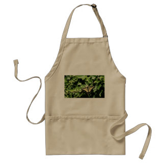 butterfly on ivy khaki apron
