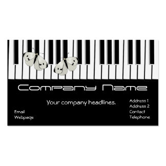 Butterfly on Keyboard Business card 2015 Calendar