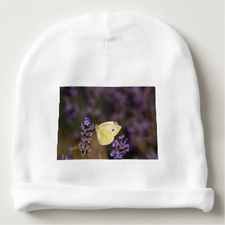 Butterfly on lavender baby beanie