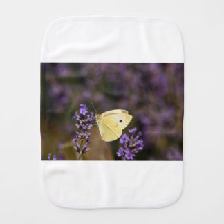 Butterfly on lavender burp cloth