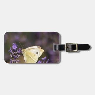 Butterfly on lavender luggage tag