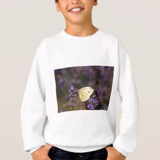 Butterfly on lavender sweatshirt