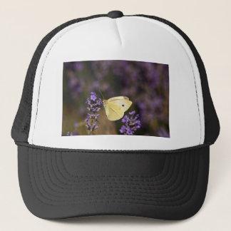 Butterfly on lavender trucker hat