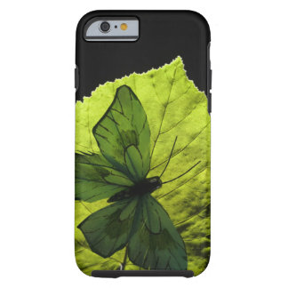 Butterfly on leaf tough iPhone 6 case