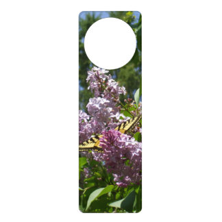 Butterfly on Lilac Bush Door Knob Hangers