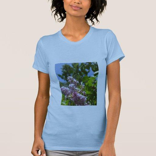 Butterfly on Lilac Bush T Shirts