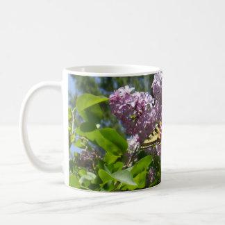 Butterfly on Lilac Flower Coffee Mug
