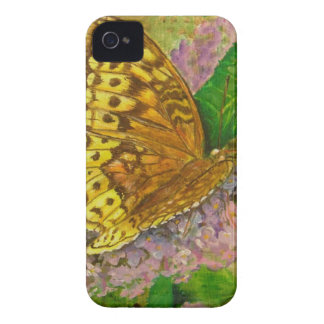 Butterfly on purple butterfly bush Buddleia david iPhone 4 Cover