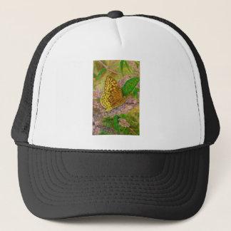 Butterfly on purple butterfly bush Buddleia david Trucker Hat