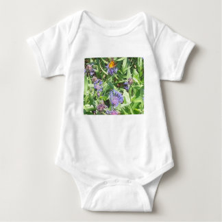 Butterfly on Purple Coneflower Baby Bodysuit