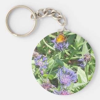 Butterfly on Purple Coneflower Key Ring