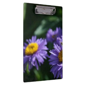 Butterfly on purple flowers clipboard