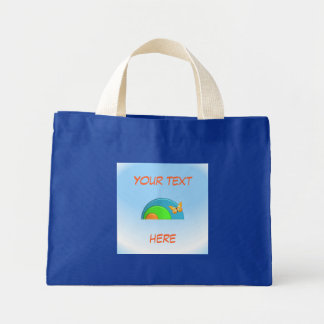 """Butterfly on Rainbow"" Tote Bag"