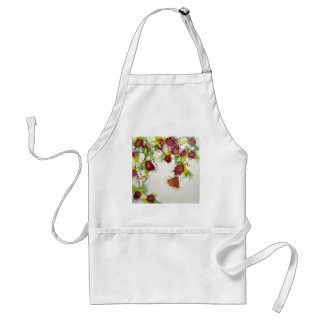 Butterfly on Red Berries Standard Apron