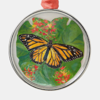 Butterfly on Sand Dollar Christmas Ornament