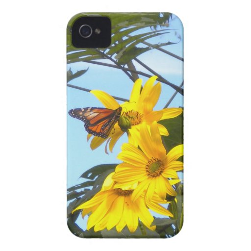 Butterfly on the Sunflower BlackBerry Bold Case