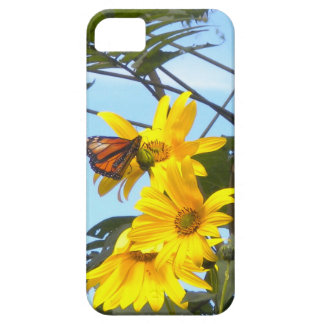 Butterfly on the Sunflower iPhone 5 Case