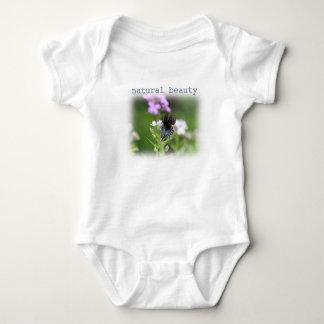 Butterfly on wildflowers baby bodysuit