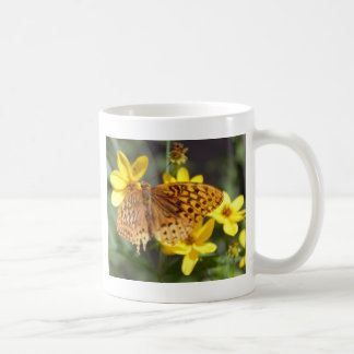 Butterfly on Yellow Flower Photo Mug
