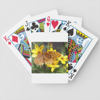 Butterfly on Yellow Flower Photo Poker Cards