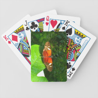 Butterfly Orange and Black Bicycle Playing Cards