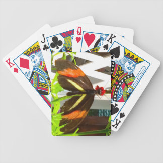 Butterfly Orange Yellow Black Bicycle Playing Cards