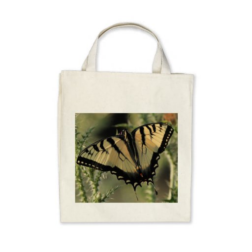 Butterfly Organic Grocery Tote Canvas Bag