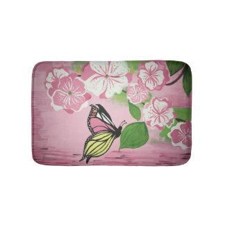 Butterfly over Water Bath Mat