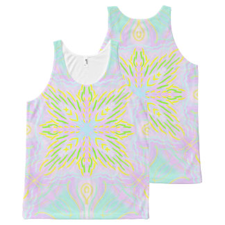 Butterfly Pastel Mandala All-Over Print Singlet
