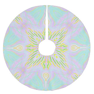 Butterfly Pastel Mandala Brushed Polyester Tree Skirt