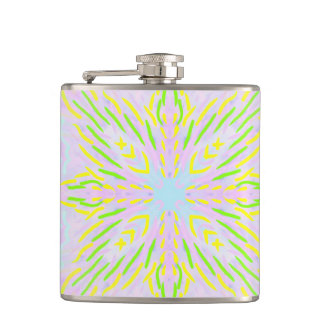 Butterfly Pastel Mandala Hip Flask