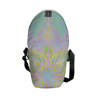 Butterfly Pastel Mandala Messenger Bag