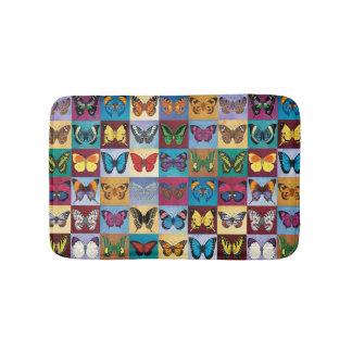 Butterfly Patchwork Bath Mat