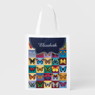 Butterfly Patchwork Customized Reusable Grocery Bag