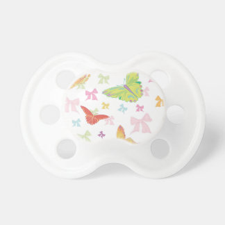 Butterfly pattern baby pacifiers